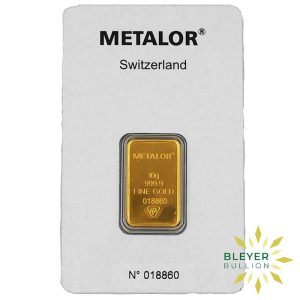 Bleyers Bars 10g Metalor Minted Gold Bar 1