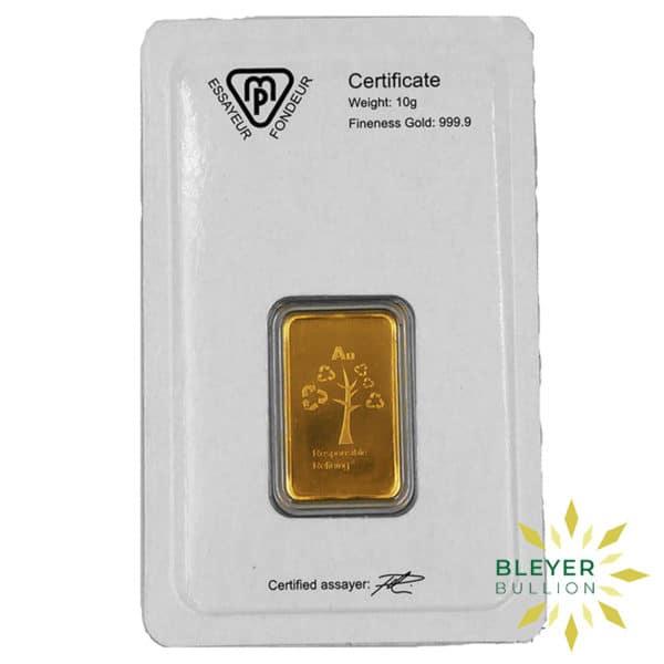 Bleyers Bars 10g Metalor Minted Gold Bar 2