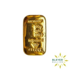 Bleyers Bars 100g Metalor Cast Gold Bar 1