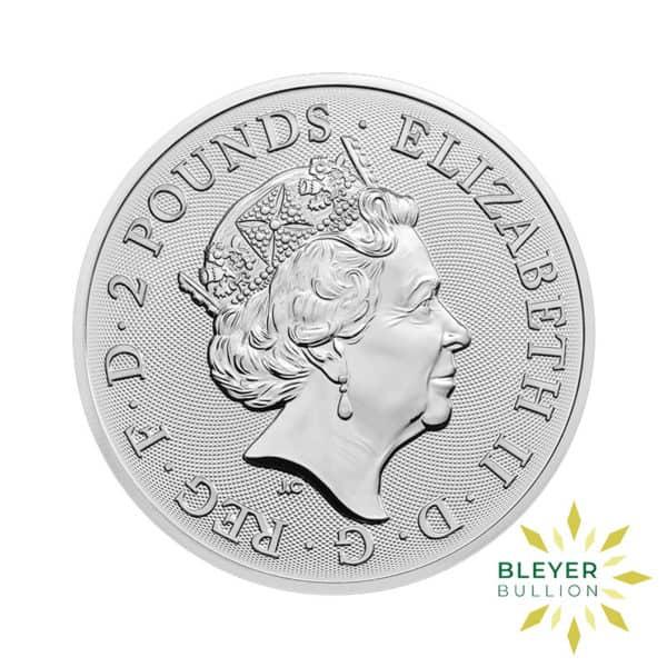 Bleyers Coin 1oz Silver UK Lunar Dog Coin 2018 2