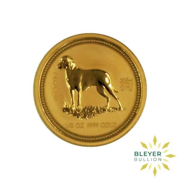 Bleyers Coin Cutouts 2006 1 2oz Gold Australian Lunar Dog Coin FRONT