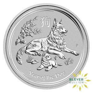 Bleyers Coins 10oz Silver Australian Lunar Dog Coin 2018 1