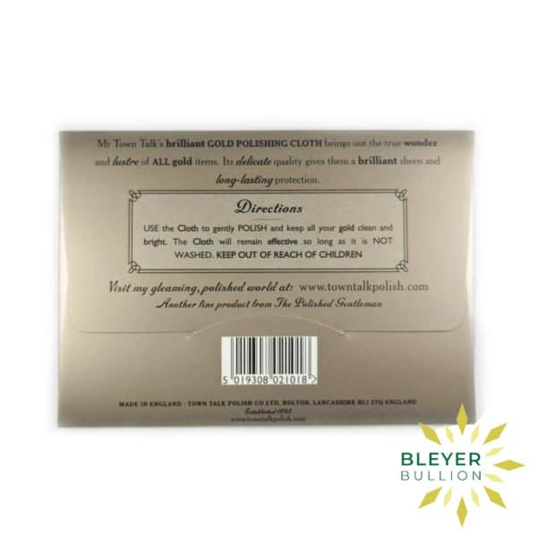 Bleyers Coin Gold Cleaning Cloth 2