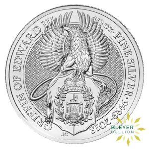 Bleyers Coins 10oz Silver UK Queens Beasts Griffin 2018 1