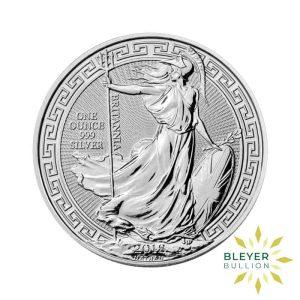 Bleyers Coin 1oz Silver UK Oriental Border Britannia Coin 2018 Front