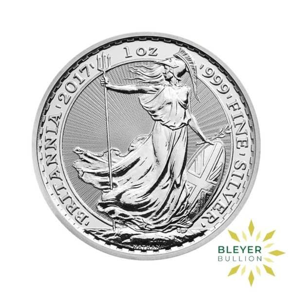 Bleyers Coin Silver UK Britannia Coins Best Value 1oz Silver UK Britannia Coin Front