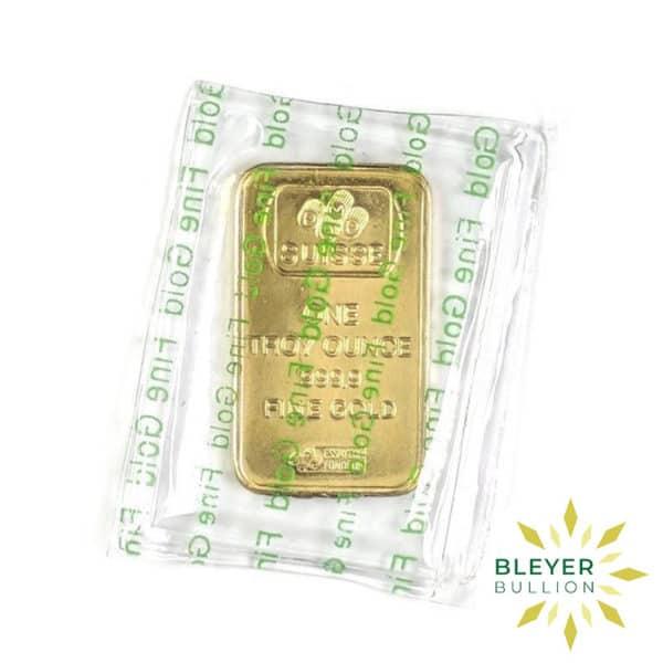 Bleyers Bar 1oz Gold PAMP Rosa BACK