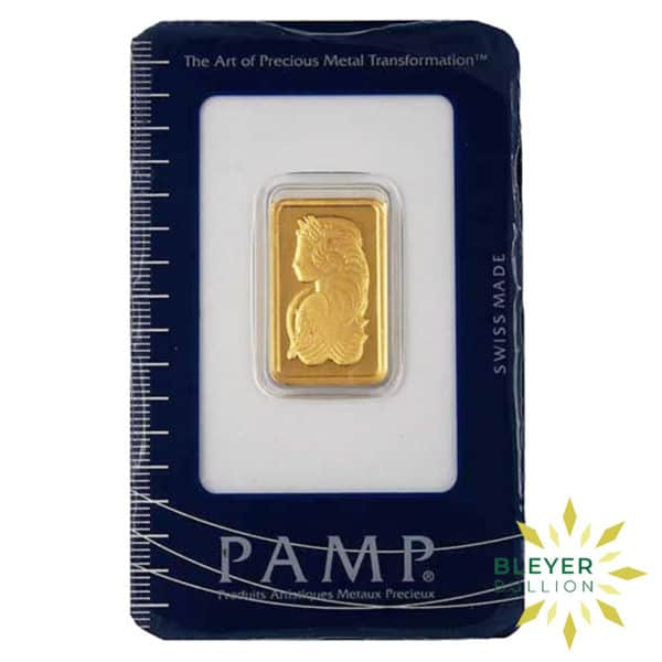 Bleyers Bars 10g Pamp Minted Gold Bar 1