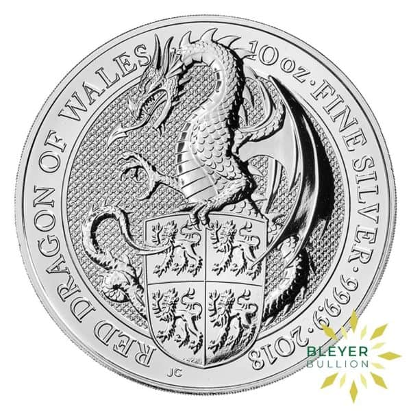 Bleyers Coins 10oz Silver UK Queens Beasts Dragon 2018 1