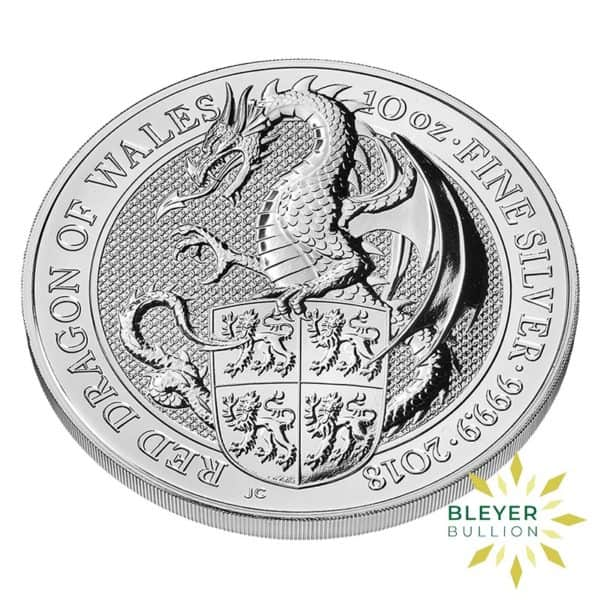 Bleyers Coins 10oz Silver UK Queens Beasts Dragon 2018 3