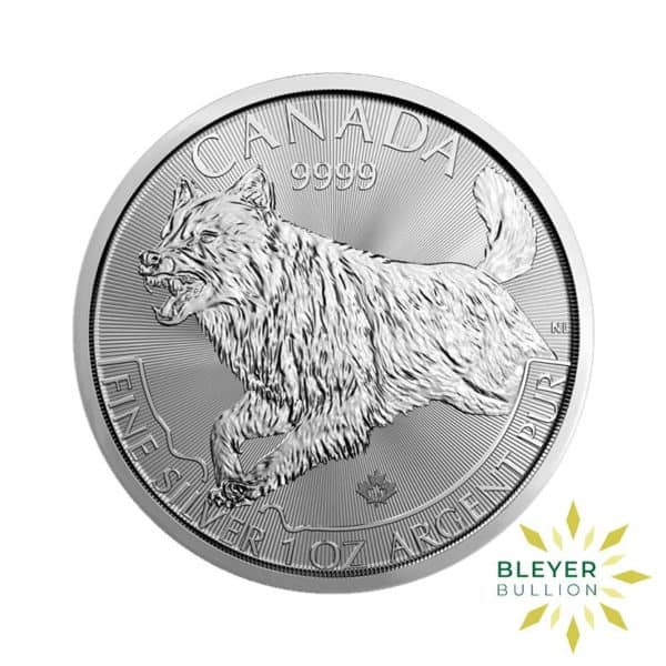 Bleyers Coin 1oz Silver Canadian Wolf Coin 2018 1