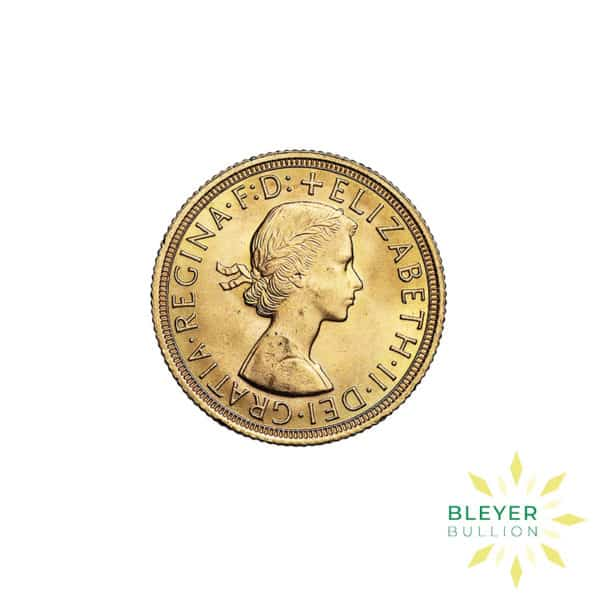 Bleyers Coin Cutouts Gold UK Sovereign Coins Elizabeth II Young Head Back3