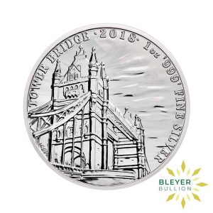 Bleyers Coin 1oz Silver UK Landmarks of Britain – Tower Bridge 2018 1