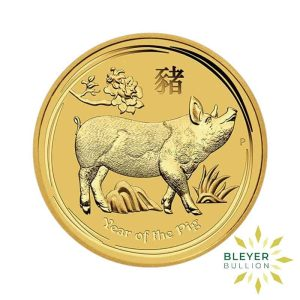 Bleyers Coin 1oz Gold Australian Lunar Pig Coin 2019 1