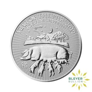 Bleyers Coin 1oz Silver UK Lunar Pig Coin 2019 1