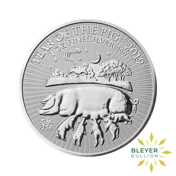 Bleyers Coin 1oz Silver UK Lunar Pig Coin 2019 1