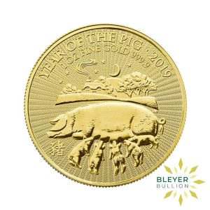 Bleyers Coin Cutouts 1oz Gold UK Lunar Collection Pig Front