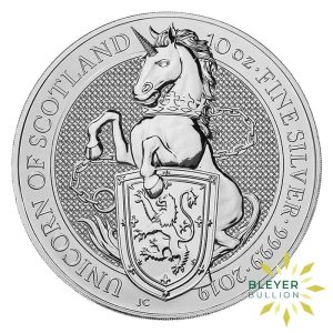 Bleyers Coins 10oz Silver UK Queens Beasts Unicorn 2019 1