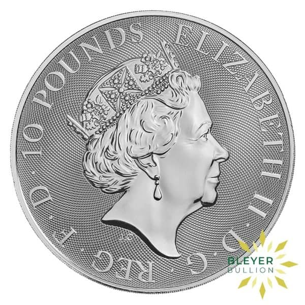 Bleyers Coins 10oz Silver UK Queens Beasts Unicorn 2019 2