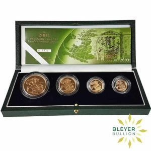Bleyers Coin UK Gold Proof Sovereign Four Coin Collection 2003 Open2