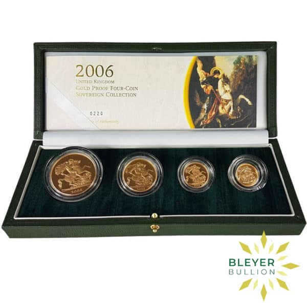 Bleyers Coin UK Gold Proof Sovereign Four Coin Collection 2006 Open