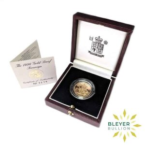 Bleyers Coin UK Proof Sovereign 1996 Front