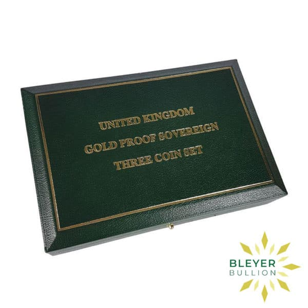UK Gold Proof Sovereign Three Coin Collection 1999 Closed
