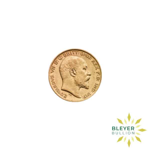Bleyers Coin Cutouts Gold UK Sovereign Coins UK Gold Half Sovereign Edward VII Back