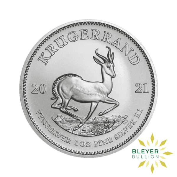 Bleyers Coin 1oz 2021 Silver Krugerrand FRONT