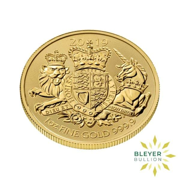 Bleyers Coin 1oz Gold UK The Royal Arms Coin 2019 3
