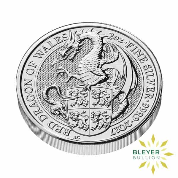 Bleyers Coin 2oz Silver UK Queens Beasts Dragon 2017 1