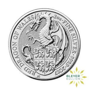 Bleyers Coin 2oz Silver UK Queens Beasts Dragon 2017 2