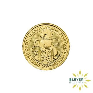 Bleyers Coins 1 4oz Gold UK Queens Beasts Unicorn 2018 1