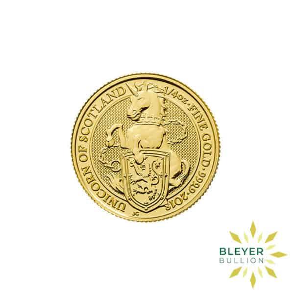 Bleyers Coins 1 4oz Gold UK Queens Beasts Unicorn 2018 1