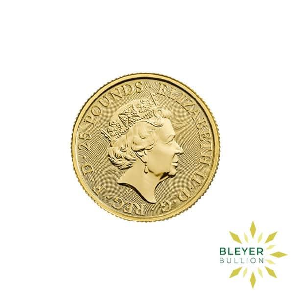 Bleyers Coins 1 4oz Gold UK Queens Beasts Unicorn 2018 2