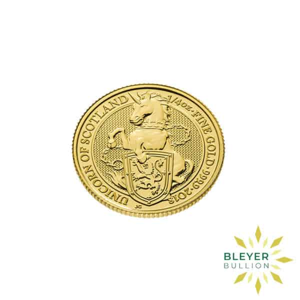 Bleyers Coins 1 4oz Gold UK Queens Beasts Unicorn 2018 3