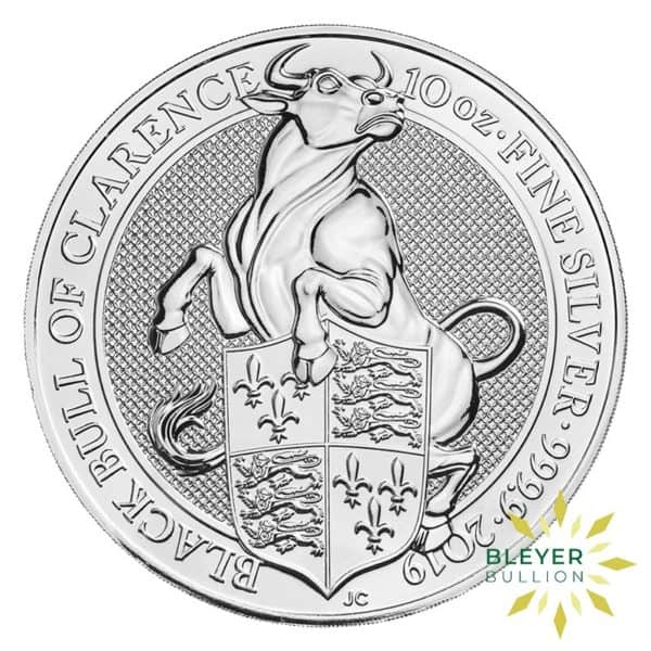Bleyers Coins 10oz Silver UK Queens Beasts Bull 2019 1
