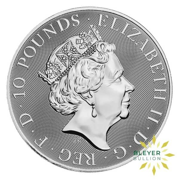 Bleyers Coins 10oz Silver UK Queens Beasts Bull 2019 2