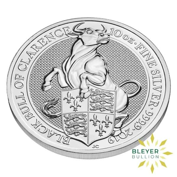 Bleyers Coins 10oz Silver UK Queens Beasts Bull 2019 3