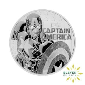 Bleyers Coin 1oz Silver Tuvalu Marvel Captain America Coin 2019 1