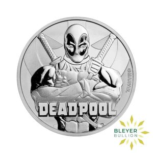 Bleyers Coin 1oz Silver Tuvalu Marvel Deadpool Coin 2018 1