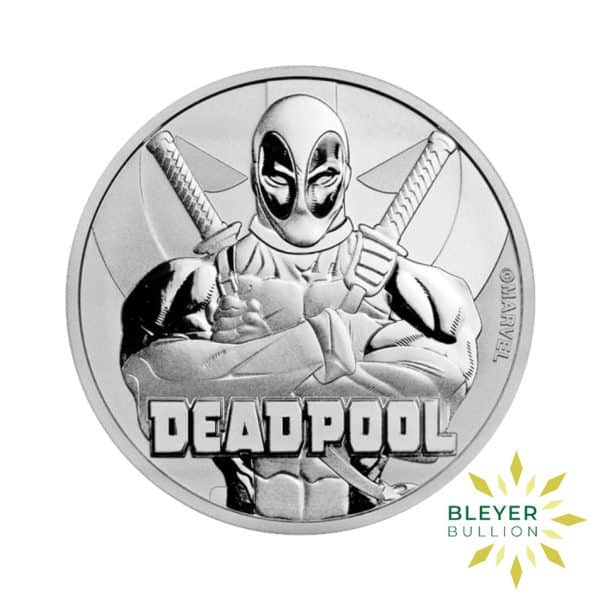 Bleyers Coin 1oz Silver Tuvalu Marvel Deadpool Coin 2018 1