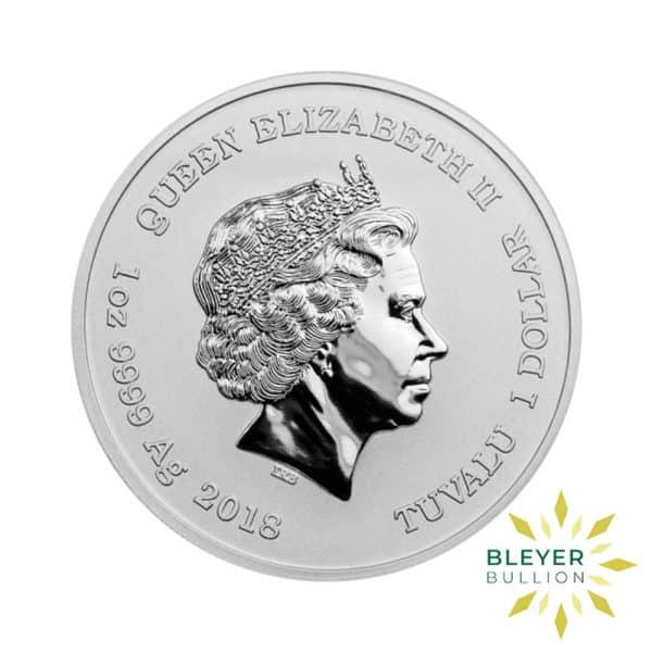Bleyers Coin 1oz Silver Tuvalu Marvel Deadpool Coin 2018 2