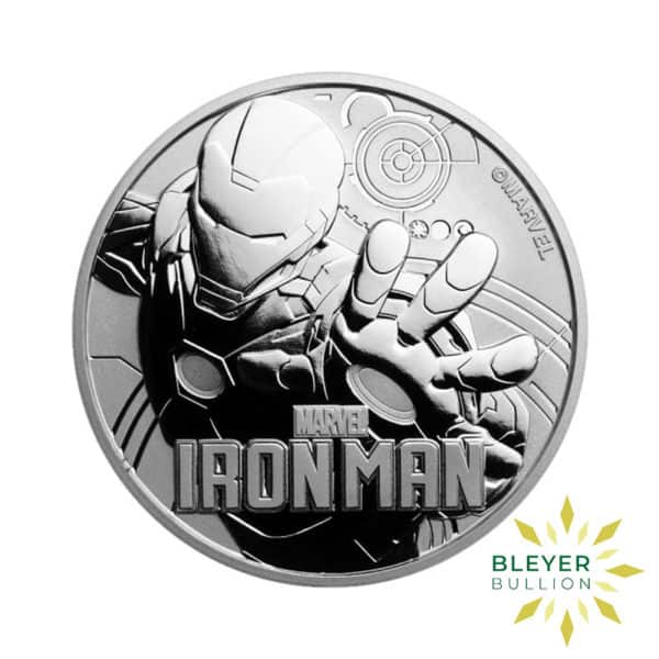 Bleyers Coin 1oz Silver Tuvalu Marvel Iron Man Coin 2018 1