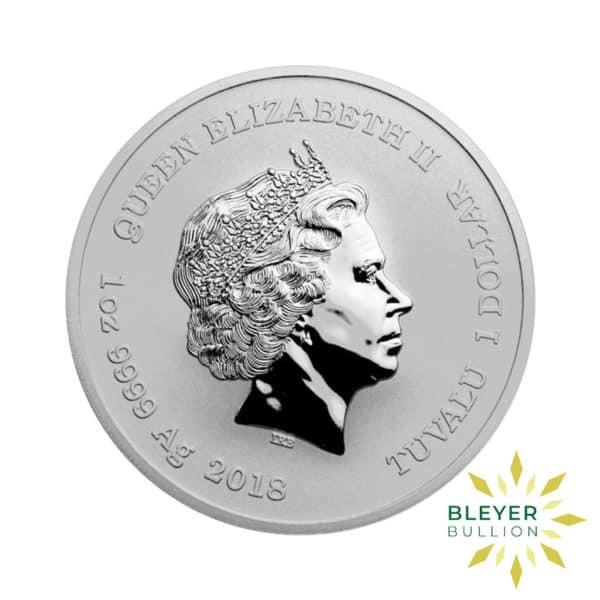 Bleyers Coin 1oz Silver Tuvalu Marvel Iron Man Coin 2018 2