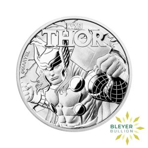 Bleyers Coin 1oz Silver Tuvalu Marvel Thor Coin 2018 1