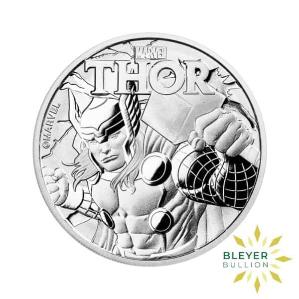 Bleyers Coin 1oz Silver Tuvalu Marvel Thor Coin 2018 1