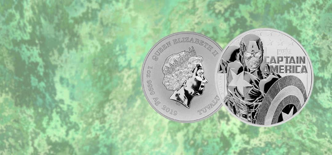 NEW Tuvalu's 2019 Captain America Marvel Series Coin
