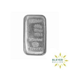 Bleyer's-Bar---100g-Metalor-Silver-Bar-1