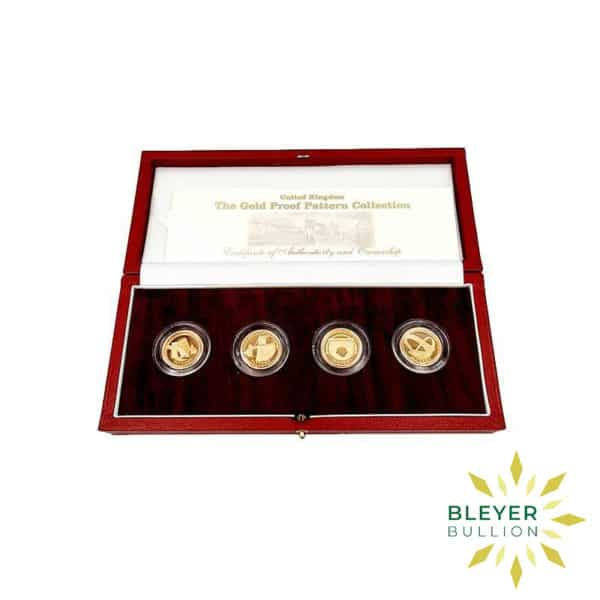 Bleyers Coin UK Gold Proof One Pound Pattern Collection 2004 2